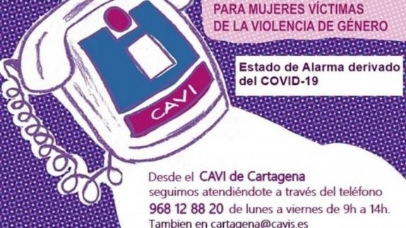 Detalles para contactar con el CAVI de Cartagena