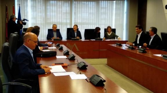 Reunión de la Comisión de Política Territorial en la Asamblea Regional.
