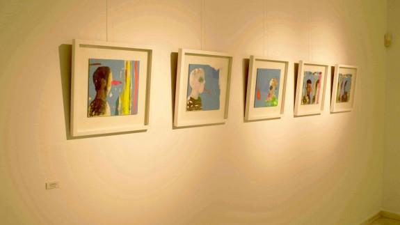 Algunos de los cuadros de Marín Guevara. Foto: ayuntamiento de Mazarrón