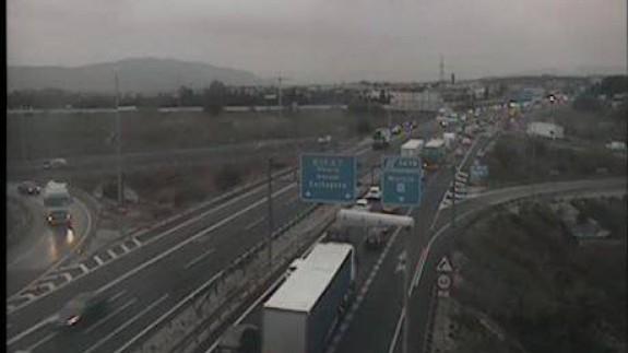 Retenciones de tráfico en la A7