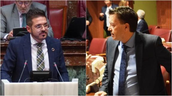 Antonio José Espín y Juan José Molina esta mañana en la Asamblea