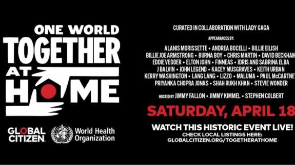 MÚSICA DE CONTRABANDO 16/04/2020. One World Together at Home, el festival internacional de la cuarentena, reúne un cartel de ensueño