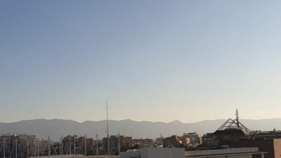 Imagen del cielo de Murcia tomada desde Juan Carlos I. Foto: ORM