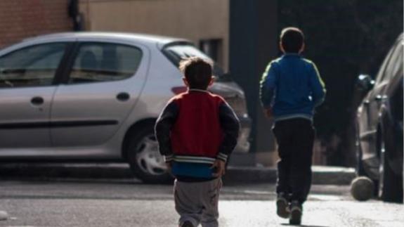 Imagen de niños en la calle