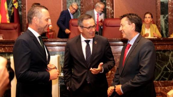 Quino Segado, Diego Conesa y Juanjo Molina
